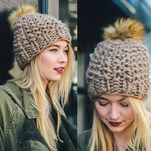 ⭐ New! Boutique Thick Knit Knobby Pom Pom Beanie
